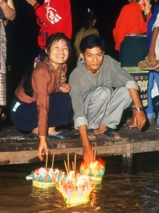 Loy Krathong In Laos